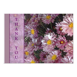 Lavendar Petals, THANK YOU 5x7 Paper Invitation Card