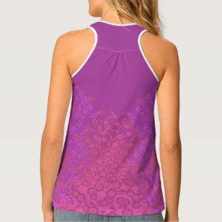 Lavendar & Pink Floral Print Tank Top