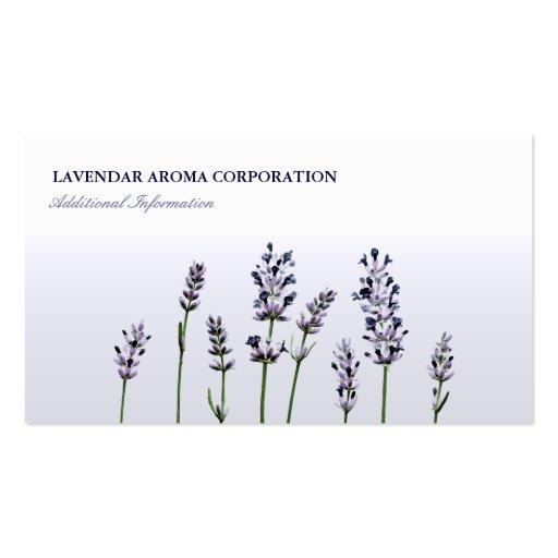 Lavendar   Purple Floral Flowers Pastel Business Card Template