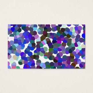 Lavendar purple Monogram Business Card