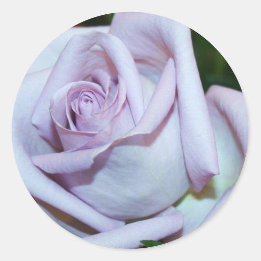 Lavendar Rose Envelope Seals & Stickers