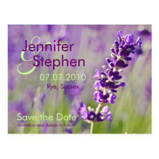 Lavendar • Save the Date Postcard