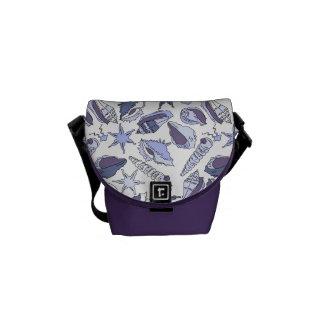 Lavendar Seashells Messenger Bag