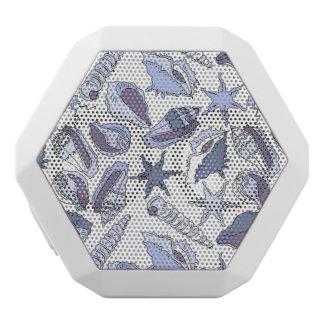 Lavendar Seashells White Bluetooth Speaker