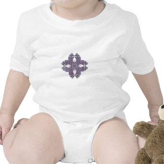 Lavendar Split Petal Fractal Art Tshirts