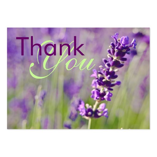 Lavendar • Thank You Profilecard Large Business Cards (Pack Of 100)