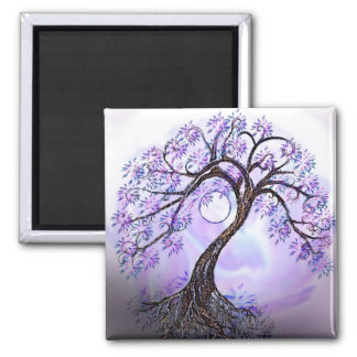 Lavendar Tree of Life Magnet