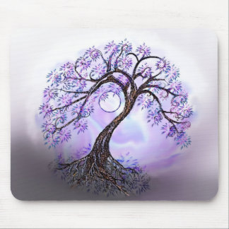 Lavendar Tree of Life Mousepad