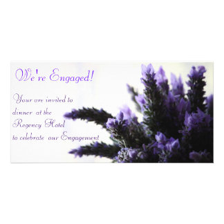 Lavendar -  We're Engaged! Card