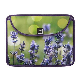 Lavendar Wild Flowers Abstract MacBook Pro Sleeves