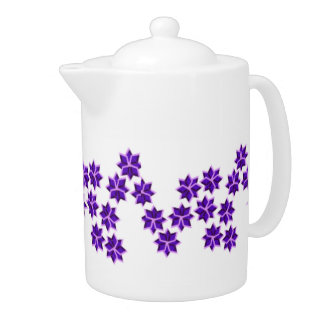 Lavendar Wish Flowers Teapot by Rutellidesigns