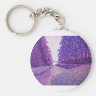Lavendar Woods Keychain