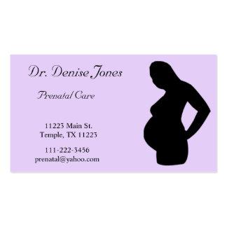 Lavendar y tarjeta negra del doctor visita tarjetas de visita