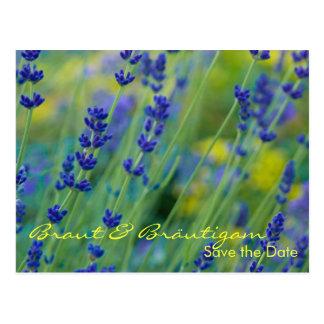 Lavendel • Save the Date Postkarte Postcard