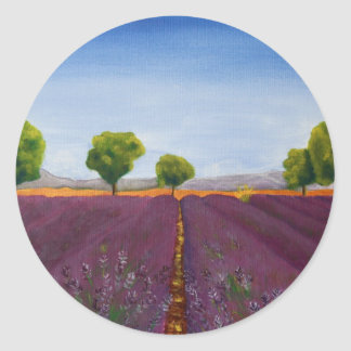 Lavendelfeld in Provence Sticker