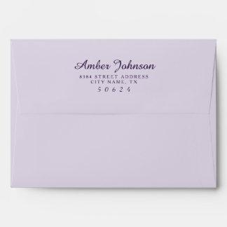 Lavender 5 x 7 Pre-Addressed Envelopes