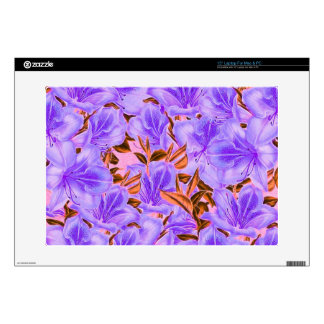 """Lavender Abstract Flowers 15"""" Laptop Skin"""