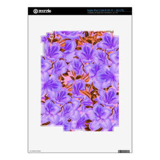 Lavender Abstract Flowers Decals For iPad 3