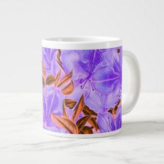 Lavender Abstract Flowers Large Coffee Mug