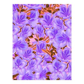 Lavender Abstract Flowers Letterhead
