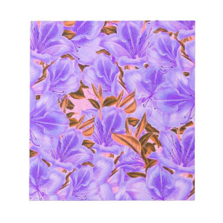 Lavender Abstract Flowers Notepad