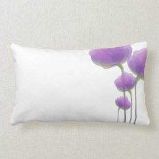 Lavender Abstract Flowers Pillow
