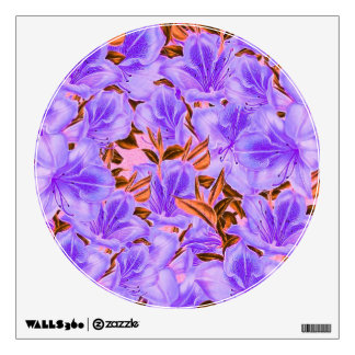 Lavender Abstract Flowers Wall Decal