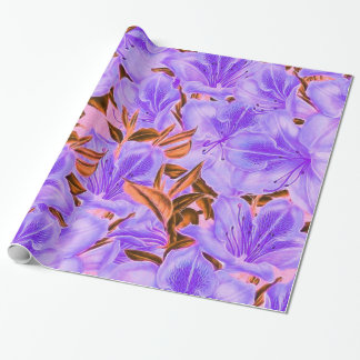 Lavender Abstract Flowers Wrapping Paper