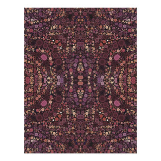 Lavender Abstract Pattern Letterhead