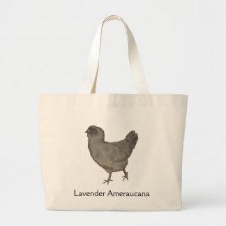 Lavender Ameraucana Rare Breed Hen Tote Bag