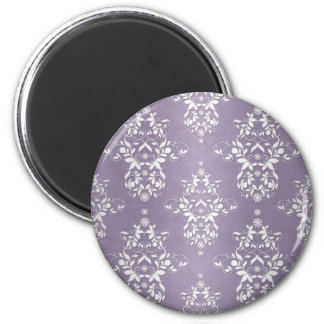 Lavender Amethyst Floral Damask Magnet