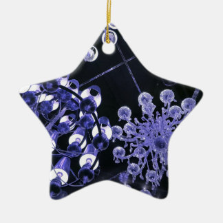 Lavender and Black Hip Abstract Pattern Ceramic Ornament