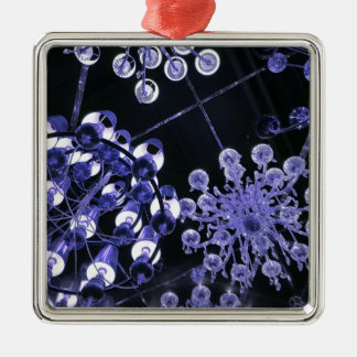 Lavender and Black Hip Abstract Pattern Metal Ornament