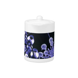 Lavender and Black Hip Abstract Pattern Teapot