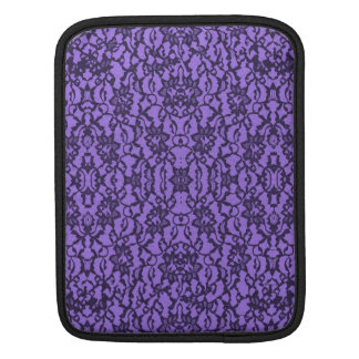 Lavender and Black Lace iPad Sleeves