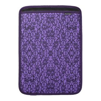 Lavender and Black Lace MacBook Air Sleeve