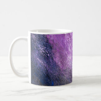 Lavender and Blue Abstract Mug