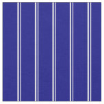 [ Thumbnail: Lavender and Blue Colored Stripes/Lines Pattern Fabric ]