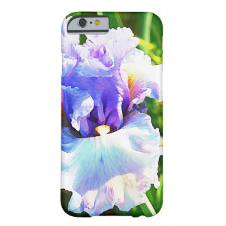 Lavender and Blue Iris Watercolor Barely There iPhone 6 Case