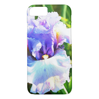 Lavender and Blue Iris Watercolor iPhone 8/7 Case