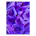 lavender and blue roses note card
