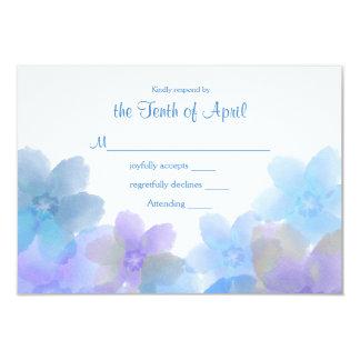 Lavender and Blue Wedding RSVP Card