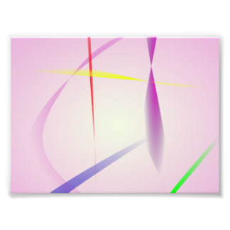 Lavender and Colored Lines Photo Print