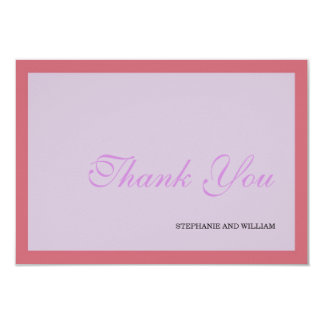 Lavender and Coral Wedding Thank You Card