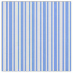 [ Thumbnail: Lavender and Cornflower Blue Colored Stripes Fabric ]