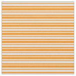 [ Thumbnail: Lavender and Dark Orange Lines Fabric ]