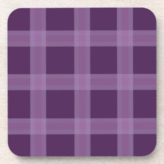 Lavender And Deep Purple Plaid Pattern Coasters
