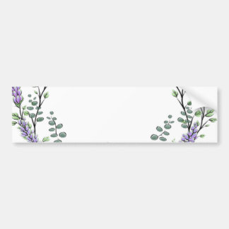 Lavender  and Eucalyptus Bumper Sticker