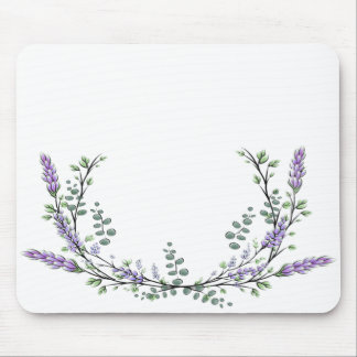 Lavender  and Eucalyptus Mouse Pad