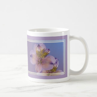 Lavender and Gold Alstroemeria Flowers Coffee Mug